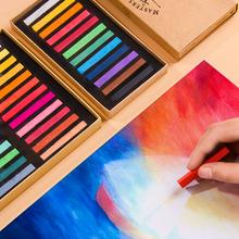 Kolorowe kredki kredki miękkie do rysowania artystycznego pastelowe zestaw farbowanie włosów kreda szkic farba karton kreda kredki dla dzieci zestawy piśmiennicze tanie tanio Other