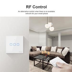 Image 5 - Itead SONOFF TX T2/T3 ue inteligentne wifi ścienny dotykowy przełącznik oświetlenia inteligentny dom 1/2/3 Gang 433 RF/głos/APP/sterowanie dotykowe praca z Alexa
