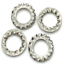 M3-M20 DIN6798/DIN6907 Serrated Lock Washers External and Internal Teeth 304 Steel Washers Int &Ext Toothed Gasket Ring