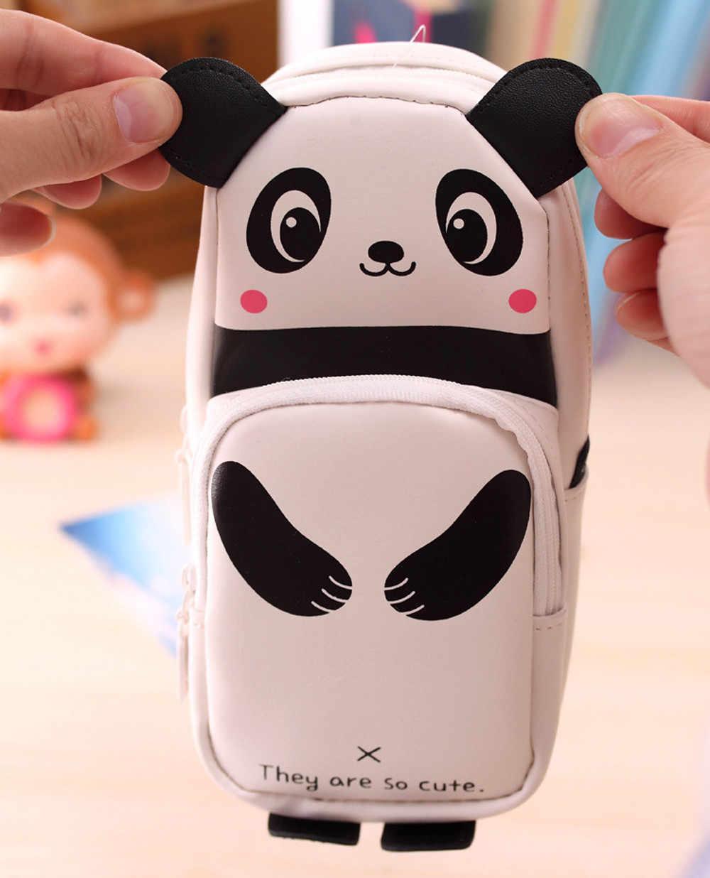 Bonito kawaii 3d panda lápis caso material escolar novidade item para crianças meninas caixa de lápis escola material de escritório