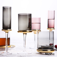 European gold plated glass Wine cup Home wine cup Champagne cup Creative goblet