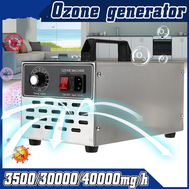 220V/110V Ozone Generator 40g Ozonator ionizer O3 Timer Air Purifiers Water Vegetable Meat Fresh Air Purify