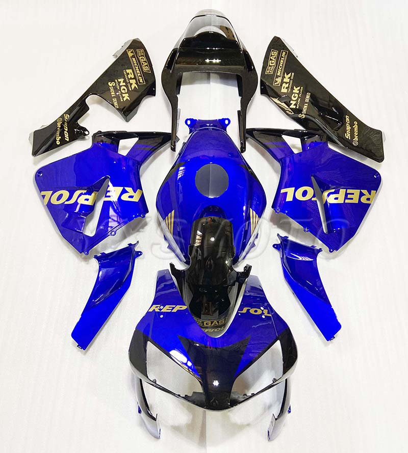 Fairing Blue Black For Honda CBR600RR 03-04 CBR600 RR F5 Glossy Blue CBR 600RR 600 RR 03 04 2003 2004