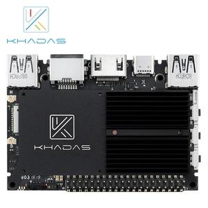 Image 4 - חדש Khadas SBC קצה V פרו RK3399 עם 4G DDR4 + 32GB EMMC5.1 אחת לוח מחשב