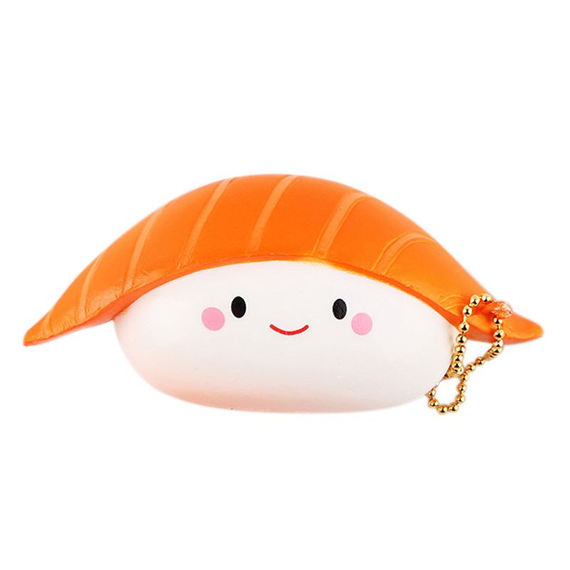 Kawaii Salmon Sushi Squishy Charms Squishy Slow Rising Squeeze Soft Phone Straps Toy Collection Food Simulation