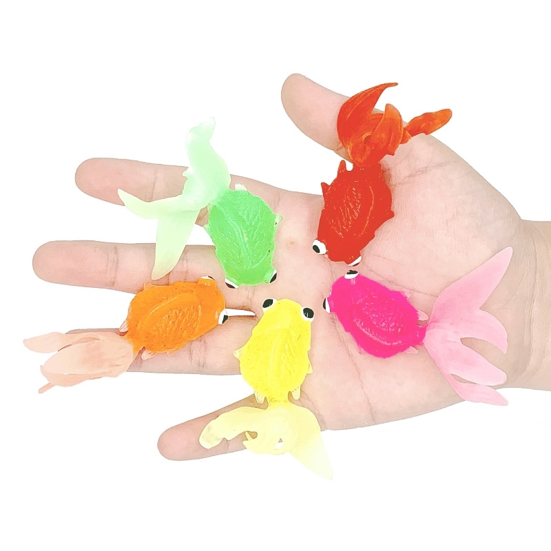 10 30Pcs Mini Cute Goldfish Capsule Small Toys Lot Pvc Toy Animals Interesting Cheap Stuff Novelty Funny For Kids Children