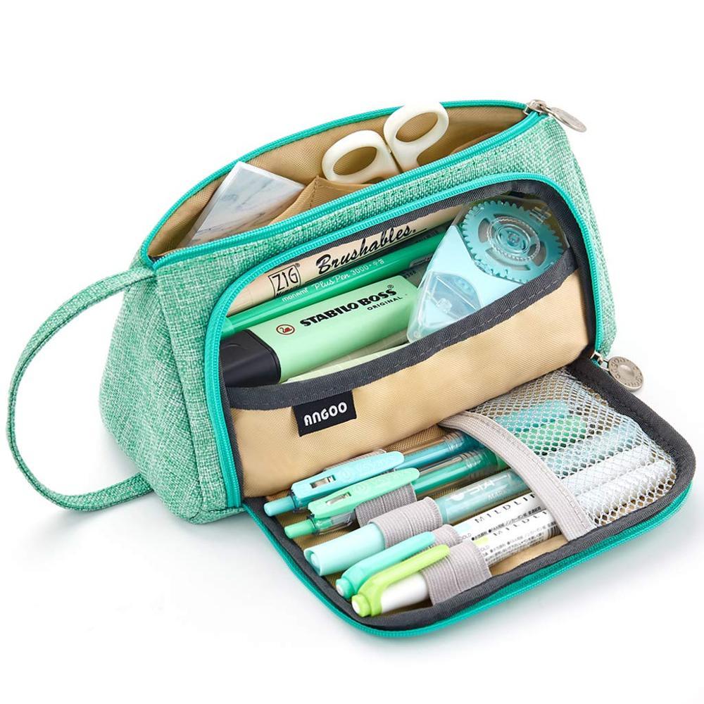 grande capacidade lapis caneta caso saco bolsa titular para o meio do ensino medio escritorio faculdade