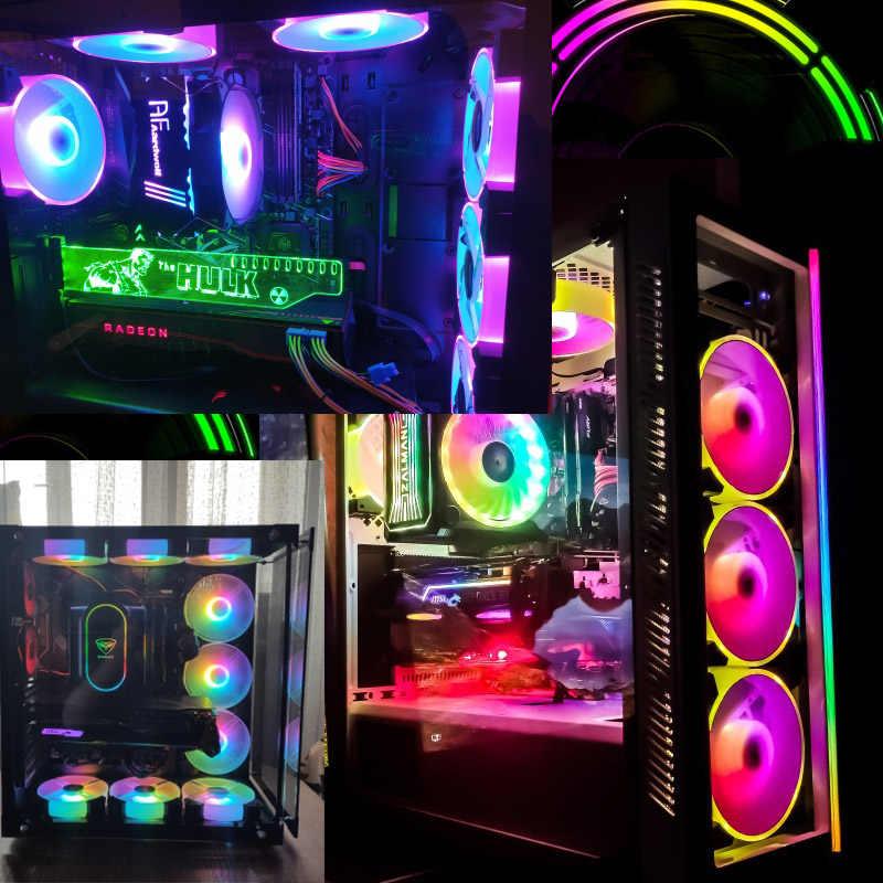 Aigo nouveau RGB ventilateur 120mm LED PC coque d'ordinateur ventilateurs ARGB silencieux à distance 5v 3pin Aura Sync refroidisseur de processeur d'ordinateur refroidissement ajuster le ventilateur du boîtier