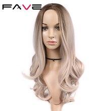 FAVE Peluca de cabello sintético largo ondulado, fibra resistente al calor, 20 pulgadas, para mujeres negras, fiesta de Cosplay