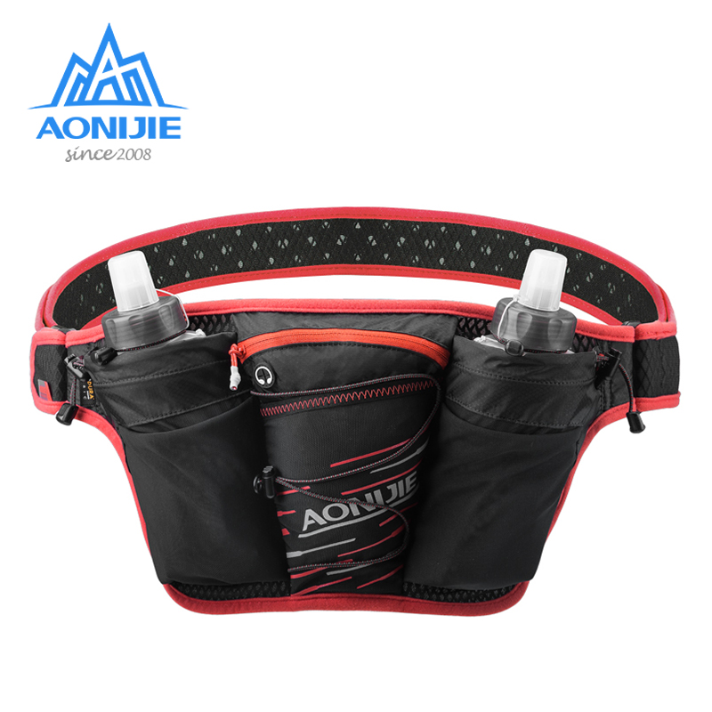 AONIJIE W959 Marathon Jogging Cycling Running Hydration Belt Waist Bag Fanny Pack Cell Phone Holder Free 2pcs 500ml Water Bottle