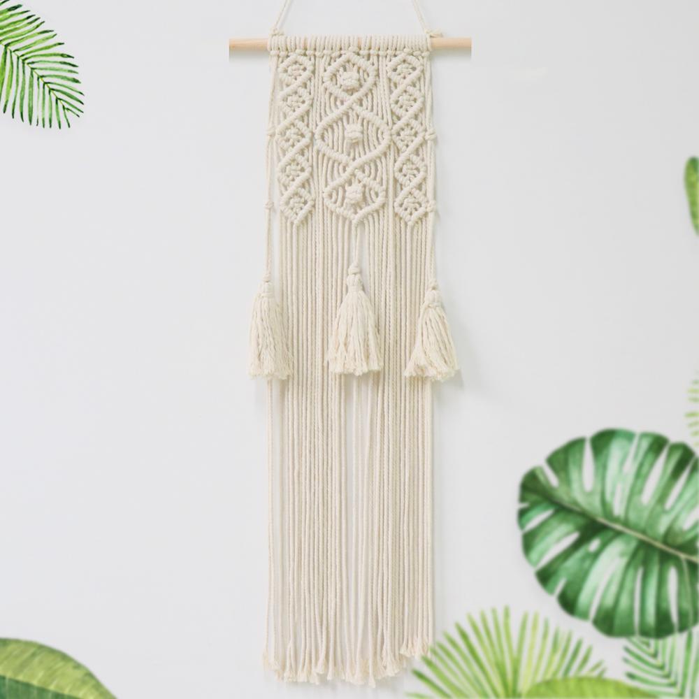Купить с кэшбэком Boho Wedding Decoration Handmade Macrame Wedding Ceremony Backdrop Curtain  Cotton Wall Hanging Tapestry Bohemian Home Decor