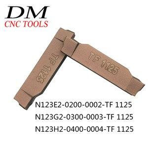 Image 1 - 10pcs N123E2 0200 0002 TF 1125/N123G2 0300 0003 TF 1125/N123H2 0400 0004 TF 1125 Cemented carbide external cutting blade