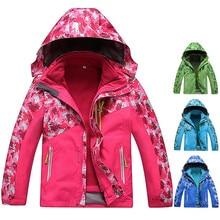 Зимняя одежда для детей на открытом воздухе Водонепроницаемый Пеший Туризм куртки для отдыха на природе куртка для походов на флисовой подкладке, горная куртка