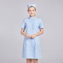 Lady Nurse Uniform varios colores de verano de manga corta abrigo de laboratorio uniforme para delgados falda Lab cappotti