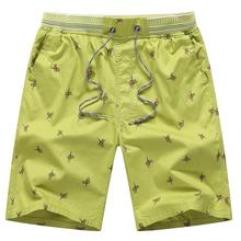 Summer printed beach pants casual cotton loose men's five-point shorts 5 Color