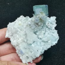 58.9gNatural rare heart-shaped crystal and green fluorite teaching mineral specimen quartz B home decoration stone collection