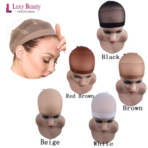 Hair Nets Lace Wig Cap Wig Nets 2PCS/pack Weave Hairnets For Making Wigs Free Size 5 colors(China)