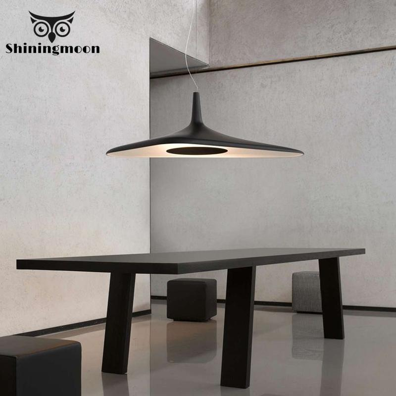 Post Modern Design White Black Pendant Lights Nordic Resin Industrial Kitchen Dinning Room Lights Fixture Home Deco Pendant Lamp