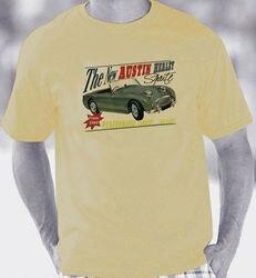 Austin healey frogeye sprite 1958 1961 retro folheto estilo t camisa