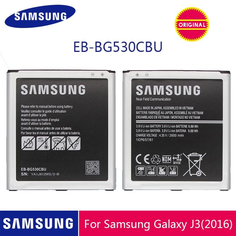 SAMSUNG EB-BG530CBU EB-BG530CBE 2600mAh Da Bateria Do Telefone Original Para Galaxy Grande Prime J3 2016 EB-BG531BBE G530 G531F G530H G530F