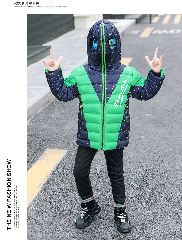 H05655f45117f44c2b1149cff2597800fe - Winter Warm Kids Boys Jackets With Glasses For Children Waterproof Cotton-Padded Parkas with Glasses Teenage Hoodies Coat