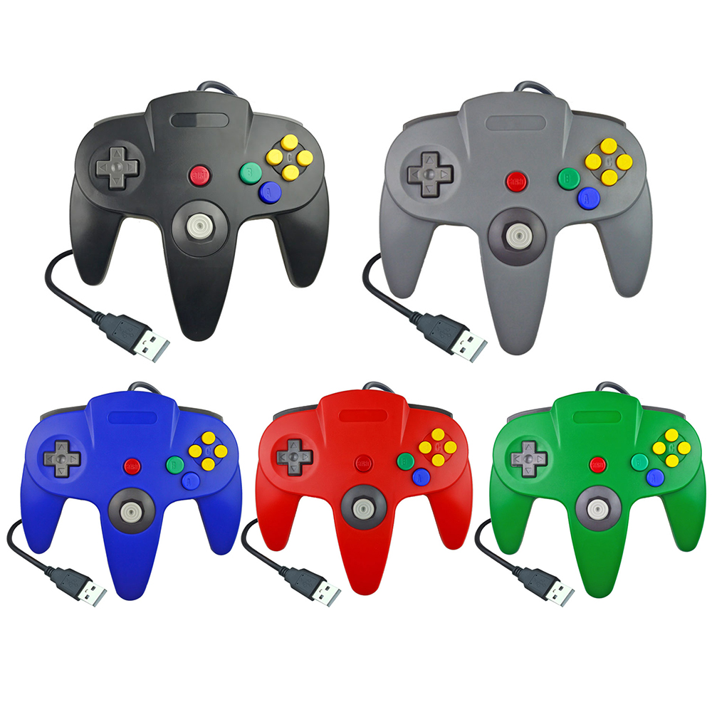 For N64 Gamepad Joypad USB Wired Gaming Joystick Game Pad For Nintendo Gamecube Game Cube Mac Gamepad Classic PC Game Controller image