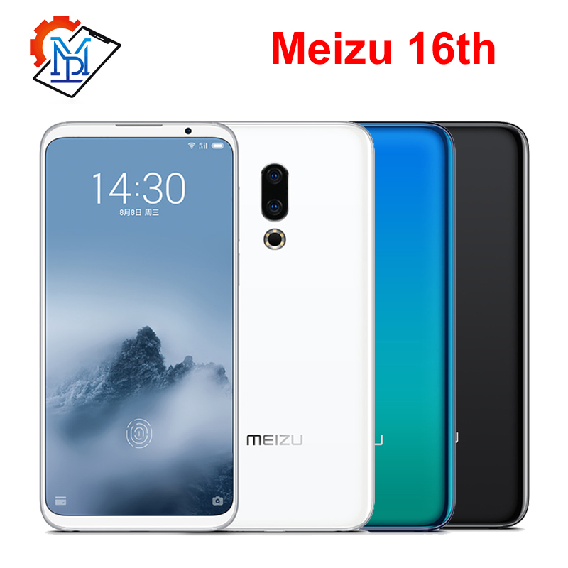 Original Meizu 16th Mobile Phone 6.0 Super AMOLED 6GB RAM 64GB ROM Snapdragon845 Octa Core Front 20MP Fingerprint Smartphone image
