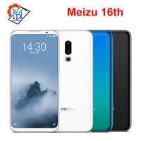 Original Meizu 16th teléfono móvil 6,0 Super AMOLED 6GB RAM 64GB ROM Snapdragon845 Octa Core frente 20MP huella dactilar teléfono inteligente