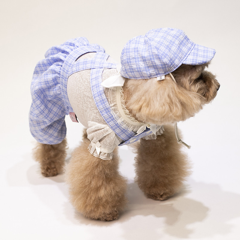 puppy jumpsuit set summer clothes dogs (10)