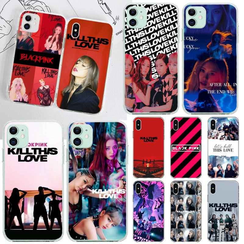 kpop girl Blackpink kill this love Black Soft Shell Phone Case Capa for iPhone 11 pro XS MAX 8 7 6 6S Plus X 5S SE 2020 XR cover
