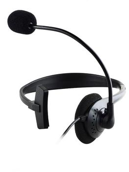 Operator Headphones Head-mounted With Noise Canceling Microphone One-ear Telephone Clear Call Headphones Single-Sided Headset