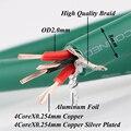 Yter Чистый медный Серебряный смешанный HiFi аудио кабель RCA межблочный объемный кабель DIY RCA баланс аудио Удлинительный кабель сигнальный пров...