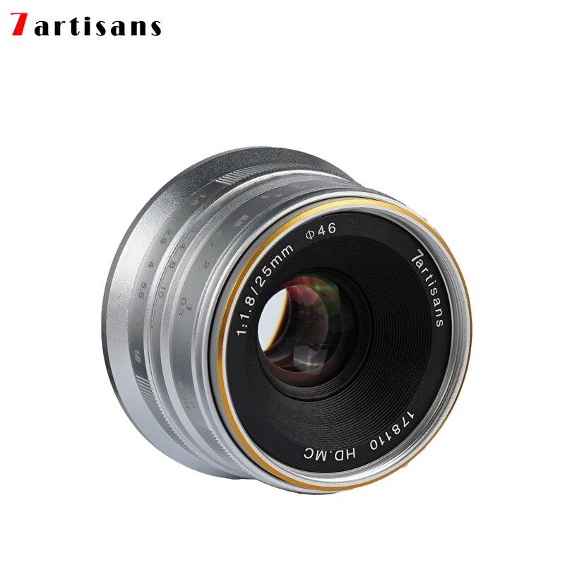 7artisans 25mm f1.8 objectif principal à toutes les séries simples pour E Mount Canon EOS-M Mout Micro 4/3 caméras A7 A7II A7R livraison gratuite - 2