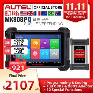 Image 1 - Автомобильный диагностический инструмент Autel MaxisCOM MK908P Pro, сканер OBD2, автомобильный программатор ECU J2534, Maxisys Pro Elite