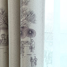 Qingming Shanghe Chinese Ink Paint Window Shade Blackout Curtains for Living Room Curtains for Bedroom Curtains for Study room(China)