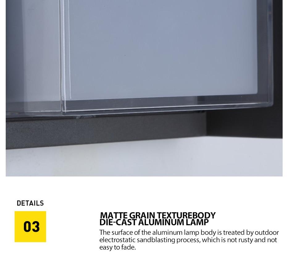 prova dwaterproof água ip varanda luz moderna