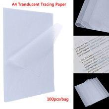 Papier de traçage A4 translucide, 100 pièces, papier d'impression à l'acide sulfurique pour dessin technique/impression