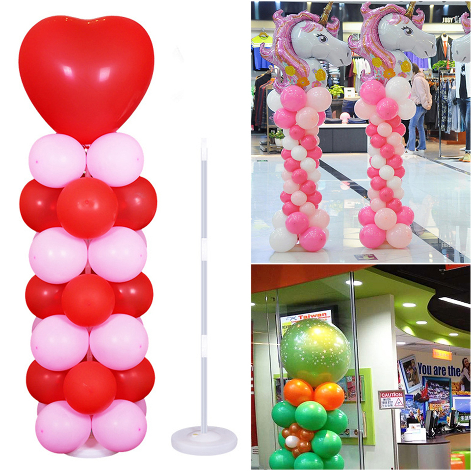 1 Set Balloon Stand Rack 20 Poles Plastic Support Column For Wedding Party Decor
