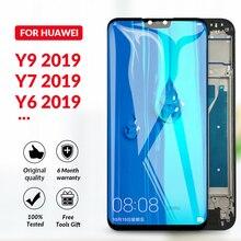 หน้าจอLCDสีดำสำหรับHuawei Y6 Y7 Prime Pro 2019 + หน้าจอสัมผัสสำหรับHuawei Y9 2019 Enjoy 9 Plus Y9 2018 LCD