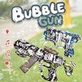USB Charged Mini Bubble Machine Projection Light Music Bubbles Camouflage Gun Children Toys Electric Automatic Bubble Maker