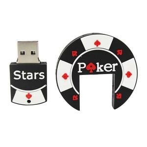 Image 2 - TEXT ME Bargaining Chip Shaped  pok star pen drive 4GB 8GB 16GB 32GB USB Flash drive
