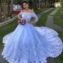 Роскошные Большие Бальные Свадебные платья 2021 роскошные кружевные