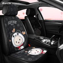 Karcle-Funda de asiento de coche con patrón de dibujos animados, cubierta trasera para asiento trasero, Protector de cojín, accesorios de Interior de coche para las cuatro estaciones