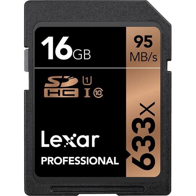 Lexar 1667x128 GB 64GB carte SD 250 mo/s UHS-II V60 U3 classe 10 carte mémoire 633X haute vitesse 16GB 32GB pour 3D 4K HD caméra vidéo
