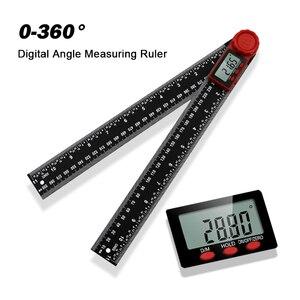 0-360° Digital Protractor Goniometer Square Ruler Carpenter Angle Detector Level Measuring Ruler Tool Inclinometer Goniometer