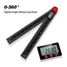 0-360 ° Digitale Winkelmesser Quadrat Herrscher Carpenter Winkel Detektor Ebene Mess Lineal Werkzeug Neigungsmesser Goniometer