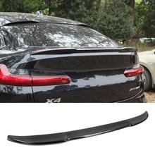 C 0S نمط ألياف الكربون الخلفية جذوع سبويلر لسيارات BMW X4 G02 25i 30