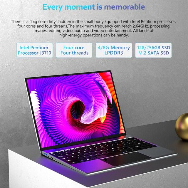 KUU YOBOOK All Metal 13.5 Inch 3K IPS Screen Intel Pentium Quad Core Laptop Backlit Keyboard Windows 10 Student Office Notebook 3