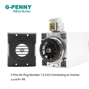 Image 5 - ¡Nueva llegada! Motor de husillo refrigerado por aire, 1,5 kW ER20, refrigeración por aire cuadrada, 4 Uds. De rodamientos, precisión de 0,01mm para tallado de madera por CNC