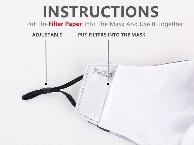 1 Pcs Funny Pattem Print Grimace Ghost Skeleton Half Face Mask Reusable Protective Dustproof Bacteria Proof Flu Mouth Face Masks 2